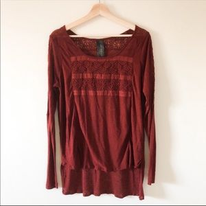New Romantics long sleeve embroidered top 715